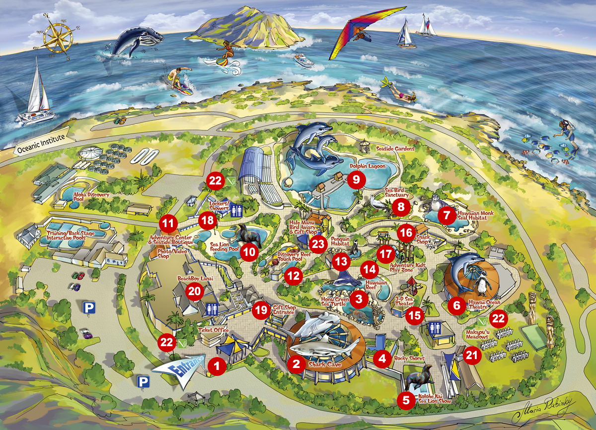 Sea Life Park Hawaii Map