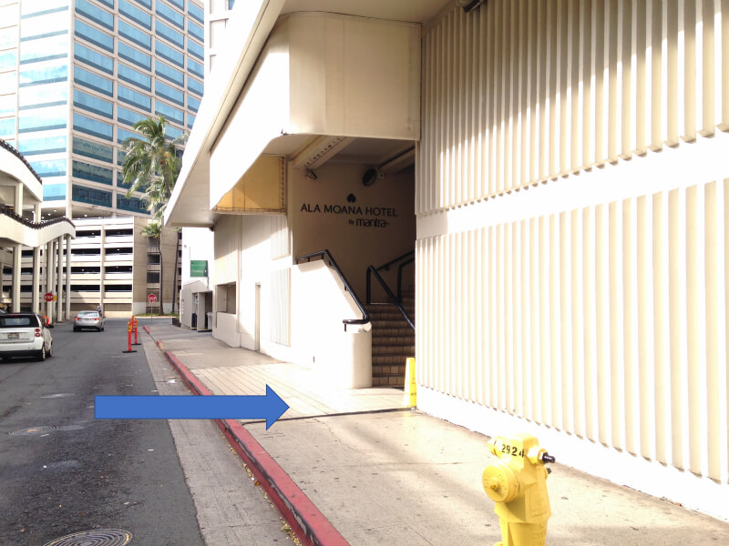 ala moana hotel pickup location